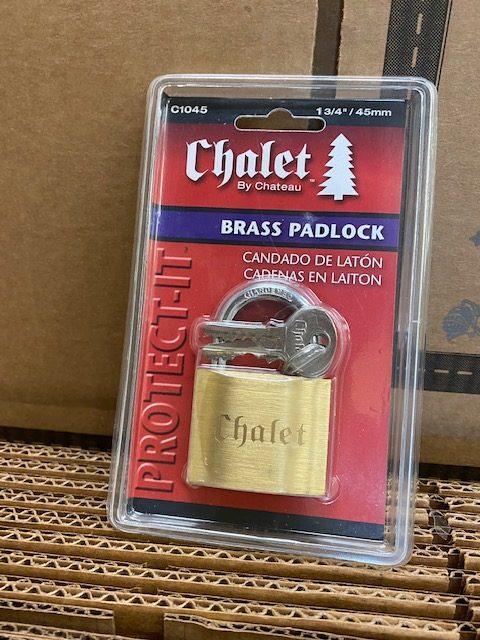 (Lock)    1 3/4  Brass Padlock