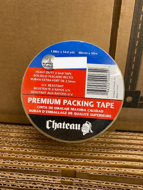 Tape  Clear Packing  55 yds.