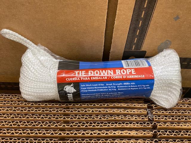 White Nylon Tie Down Rope